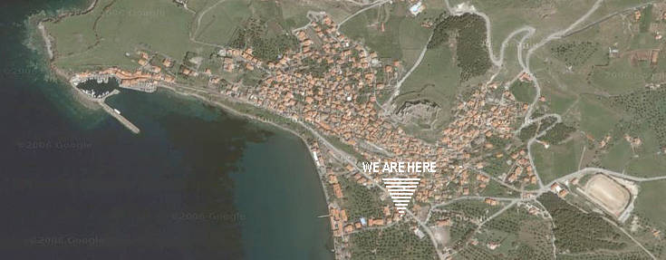 GOOGLE MAPS, Molivos | ...after reaching the beautiful town, right in the entrance of the village (on Beach road, 20 meters the Municipal Tourist Office and the intersection with the Main road that leads to the port, you will find our Motorcycle & Bike Rental Office MOTO GEORGE...